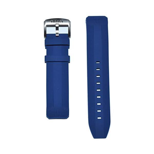 ティソ 腕時計 TISSOT T600039989 ウォッチ 替えバンド 替えベルト ストラップ Tissot T-Touch Expert SOLAR Blue Rubber Band Strap for Case-Back T091420A