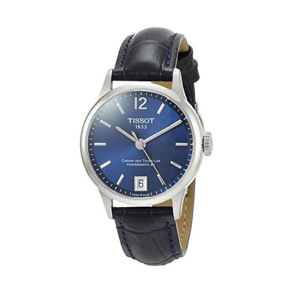 ティソ 腕時計 TISSOT T0992071604700 ウォッチ Tissot Chemin des Tourelles Powermatic 80 Blue Leather Watch 32mm T099.207.16.047.00