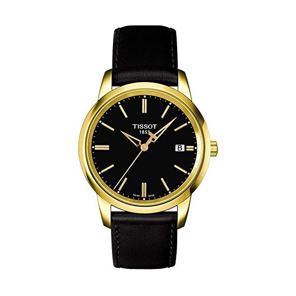 ティソ 腕時計 TISSOT T0334103605101 ウォッチ メンズ 男性用 Tissot Classic Dream Black Dial Black Leather Mens T0334103605101
