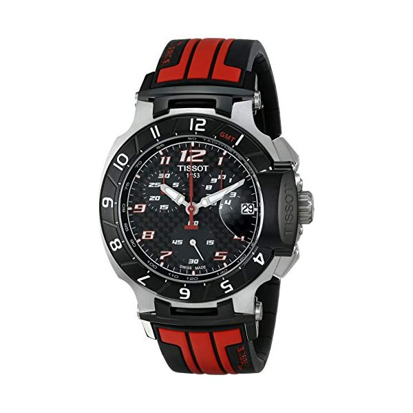ティソ 腕時計 TISSOT T0484172720701 ウォッチ Tレース 限定 メンズ 男性用 Tissot Men's T0484172720701 T-Race MotoGP Limited Edition Analog Display Swiss Quartz Red Watch