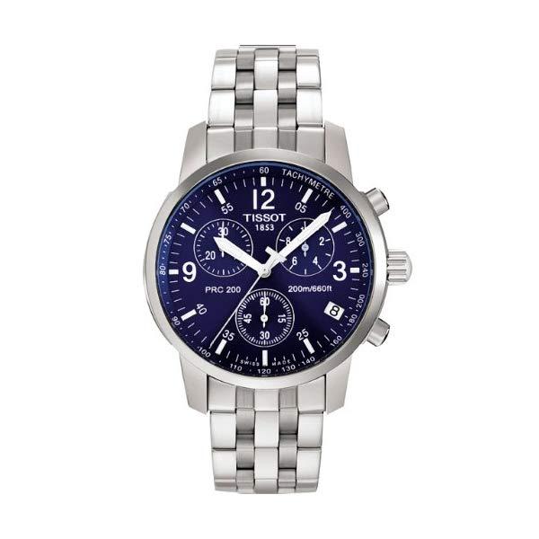 日本限定 ティソ 腕時計 TISSOT T17158642 ウォッチ メンズ 男性用 Mens Chronograph PRC200 出荷 Tissot Blue Watch T-Sport Dial