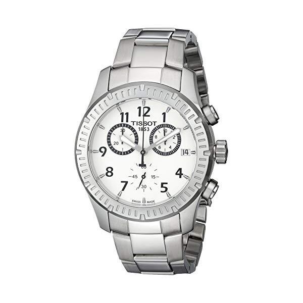 ティソ 腕時計 TISSOT T0394171103700 ウォッチ メンズ 男性用 Tissot Men's T0394171103700 V8 Analog Display Swiss Quartz Silver Watch