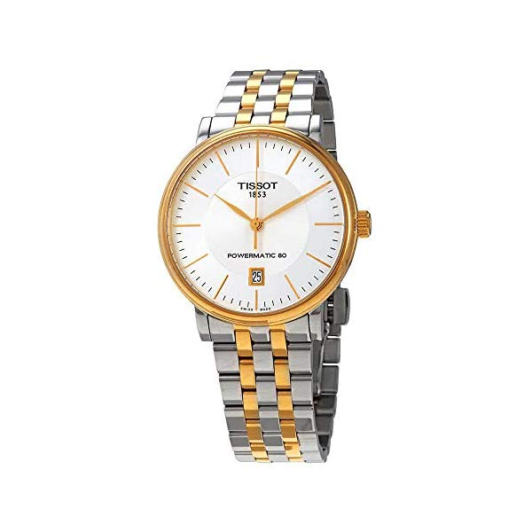 ティソ 腕時計 TISSOT T1224072203100 ウォッチ Tissot Carson T122.407.11.031.00 POWERMATIC 80 Two Tone Watch