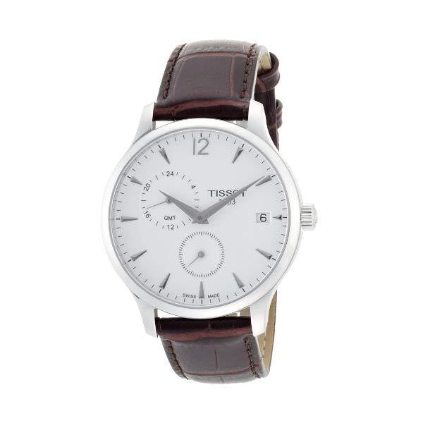 ティソ 腕時計 TISSOT T0636391603700 ウォッチ メンズ 男性用 Tissot Tradition GMT Leather Mens Watch - Brown