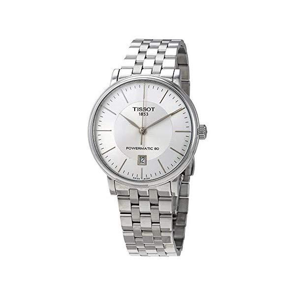 ティソ 腕時計 TISSOT T1224071103100 ウォッチ Tissot Carson T122.407.11.031.00 Powermatic 80 Stainless Steel Watch