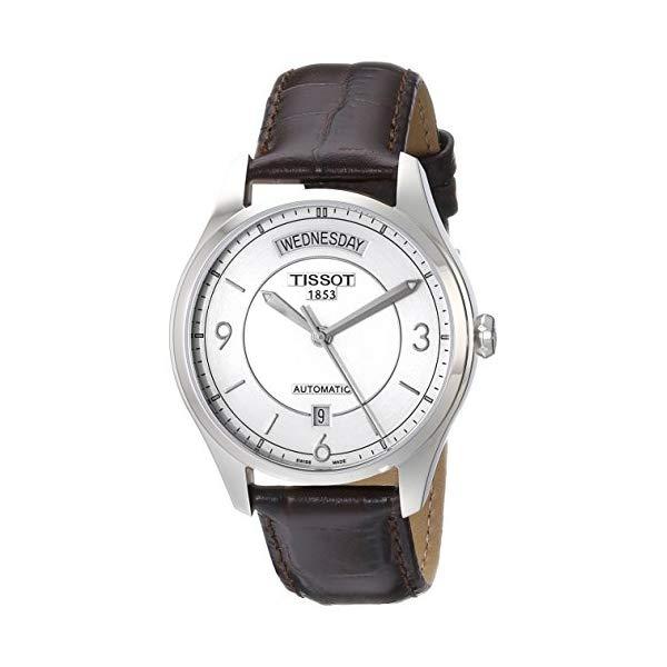 ティソ 腕時計 TISSOT T0384301603700 ウォッチ メンズ 男性用 Tissot Men's T0384301603700 T-One Analog Display Swiss Quartz Brown Watch