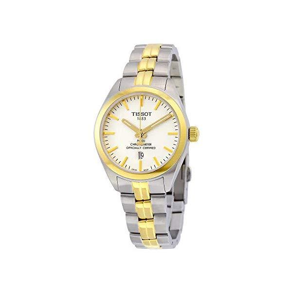ティソ 腕時計 TISSOT T101.251.22.031.00 ウォッチ レディース 女性用 Tissot T101.251.22.031.00 PR 100 Women's Watch Two-Tone Gold/Silver 33mm Stainless Steel