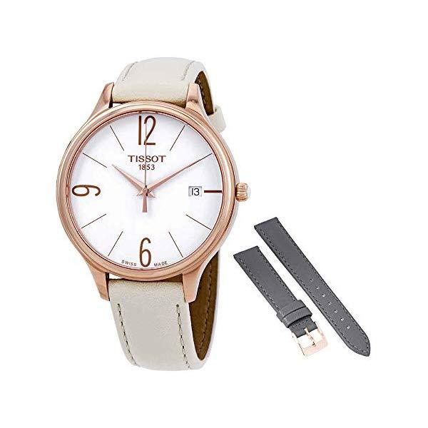 ティソ 腕時計 TISSOT T103.210.36.017.00 ウォッチ レディース 女性用 Tissot Bella Ora White Dial White Leather Ladies Watch T103.210.36.017.00