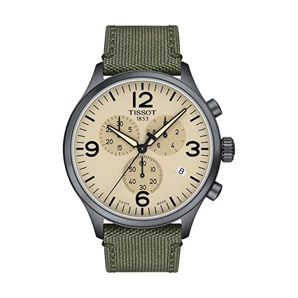 ティソ 腕時計 TISSOT T1166173726700 ウォッチ メンズ 男性用 Tissot Men's Chrono XL Fabric Green Stainless Steel Watch T1166173726700