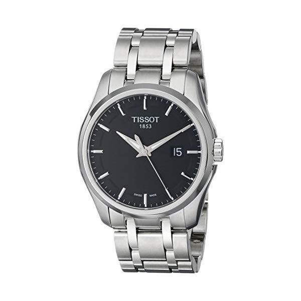 ティソ 腕時計 TISSOT T0354101105100 ウォッチ メンズ 男性用 Tissot Men's T0354101105100 Couturier Black Dial Stainless Steel Watch