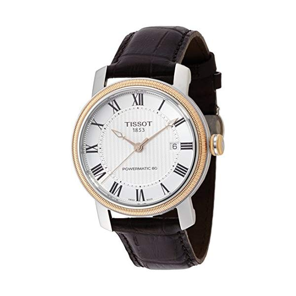 ティソ 腕時計 TISSOT T0974072603300 ウォッチ メンズ 男性用 Tissot Bridgeport Powermatic 80 Brown Leather Men's Watch T0974072603300