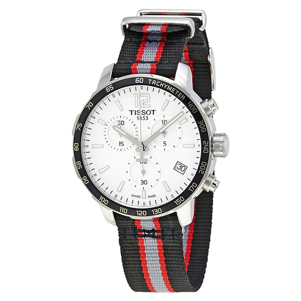 ティソ Tissot 腕時計 メンズ 時計 NBA バスケットボール Tissot Quickster Portland Trail Blazers Chronograph Mens Watch T0954171703727