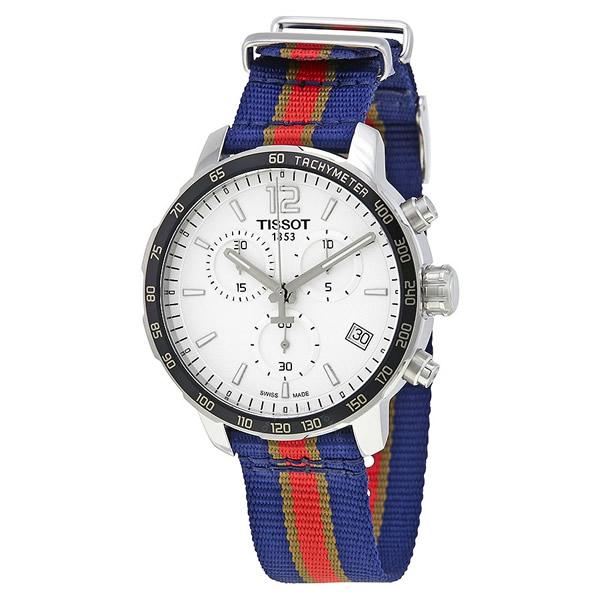 ティソ Tissot 腕時計 メンズ 時計 NBA バスケットボール Tissot Quickster New Orleans Pelicans Chronograph Mens Watch T0954171703721