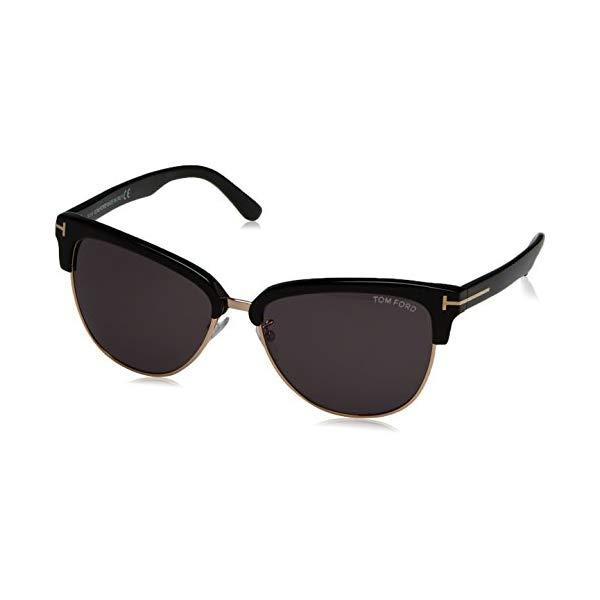 トムフォード サングラス TOM FORD FT0368 PAN 01A Tom Ford Fany Sunglasses in Shiny Black FT0368 01A 59