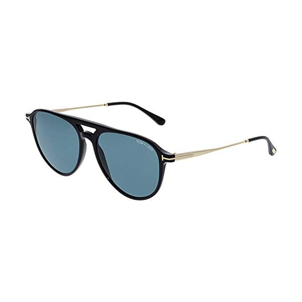 トムフォード サングラス TOM FORD FT0587 Tom Ford Sunglasses FT 0587 Carlo- 02 01V shiny black / blue
