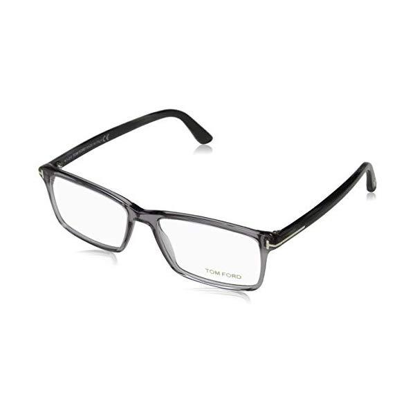 トムフォード サングラス TOM FORD FT5408 020 56 TOM FORD Men's TF 5408 020 Clear Gray Clear Rectangular Eyeglasses 56mm