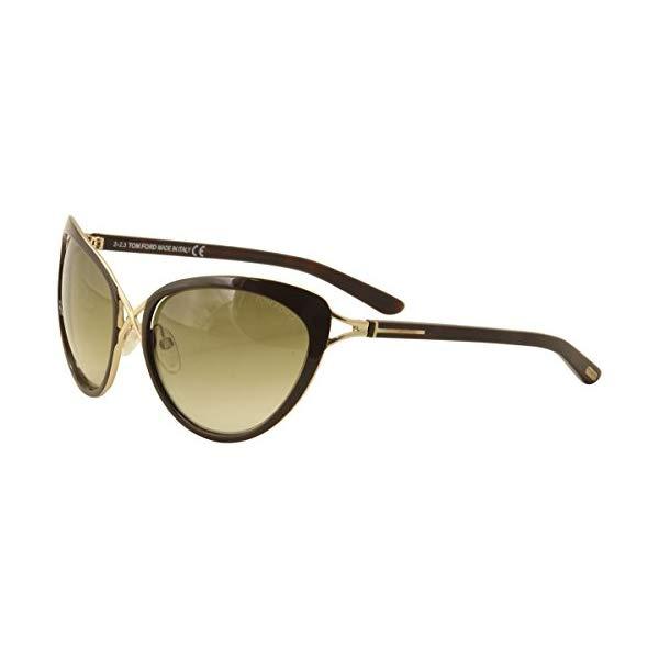 トムフォード サングラス TOM FORD FT0321 Tom Ford FT0321 Daria 28F - Shine Rose Gold/Gradient Brown Sunglasses