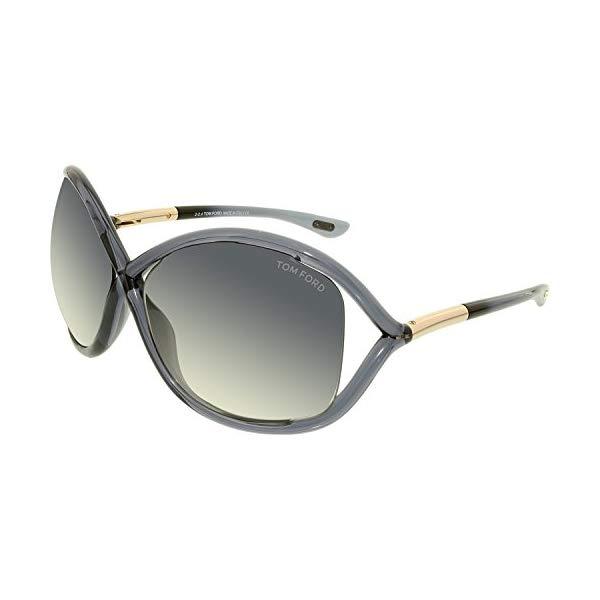 トムフォード サングラス TOM FORD FT0009 Whitney Tom Ford Women's Gradient Whitney FT0009-0B5-64 Grey Butterfly Sunglasses