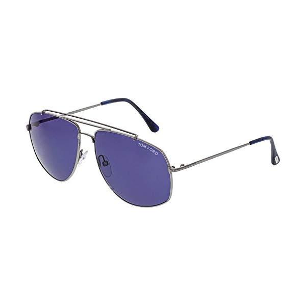 トムフォード サングラス TOM FORD FT0496S-14V Tom Ford FT0496 Georges Sunglasses 59 14V Shiny Light Ruthenium Blue