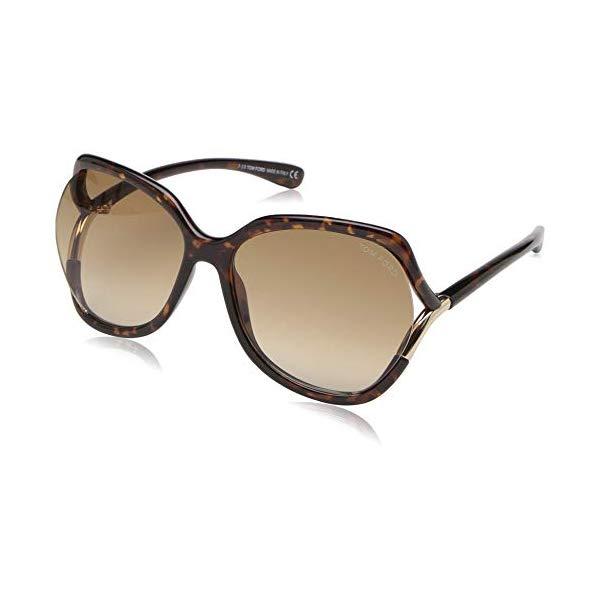 トムフォード サングラス TOM FORD FT0578E Tom Ford FT0578 52F Dark Havana Anouk Square Sunglasses Lens Category 2 Size 60