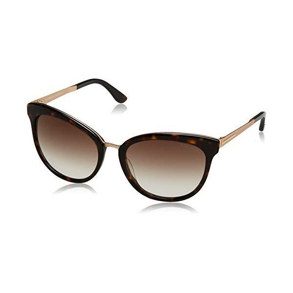 トムフォード サングラス TOM FORD FT0461 MET 52G Tom Ford Emma 52G Tortoise/Gold Emma Cats Eyes Sunglasses Lens Category 2 Siz