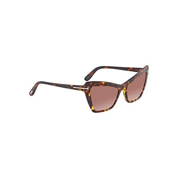 トムフォード サングラス TOM FORD TF555 Valesca-02 Tom Ford Womens Valesca Signature T-Bar Cat Eye Sunglasses