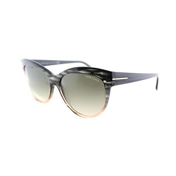 トムフォード サングラス TOM FORD FT04305620P TOM FORD FT0430 Lily Sunglasses Stripped Grey w/Grey Gradient (20P) TF 430 20P 56mm Authentic
