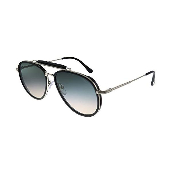 トムフォード サングラス TOM FORD FT0666 01B Tom Ford TF0666 Tripp Aviator Sunglasses 58mm