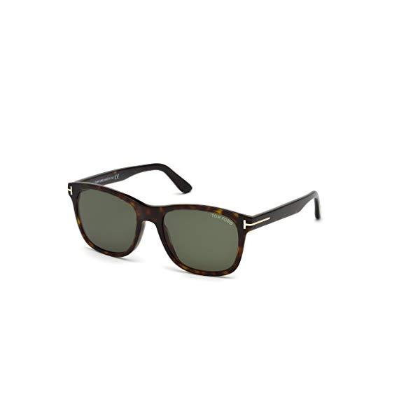 トムフォード サングラス TOM FORD FT0595 Tom Ford FT 0595 Eric Sunglasses 52N Dark Havana/Green Lens 55MM