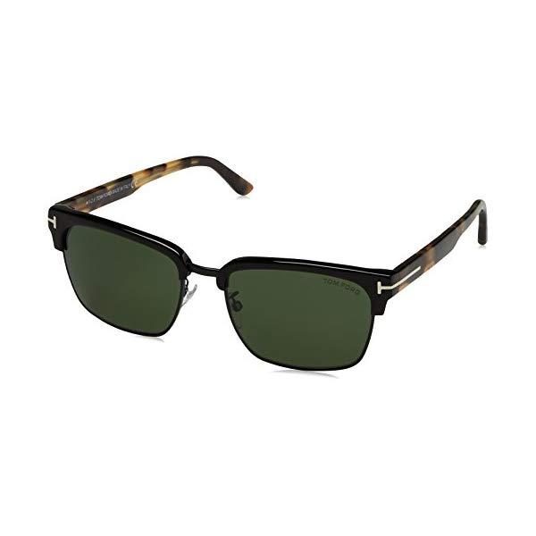 トムフォード サングラス TOM FORD FT0367 PAN 02B Tom Ford Men's River Clubmaster Sunglasses in Matte Black & Tort FT0367 02B 57