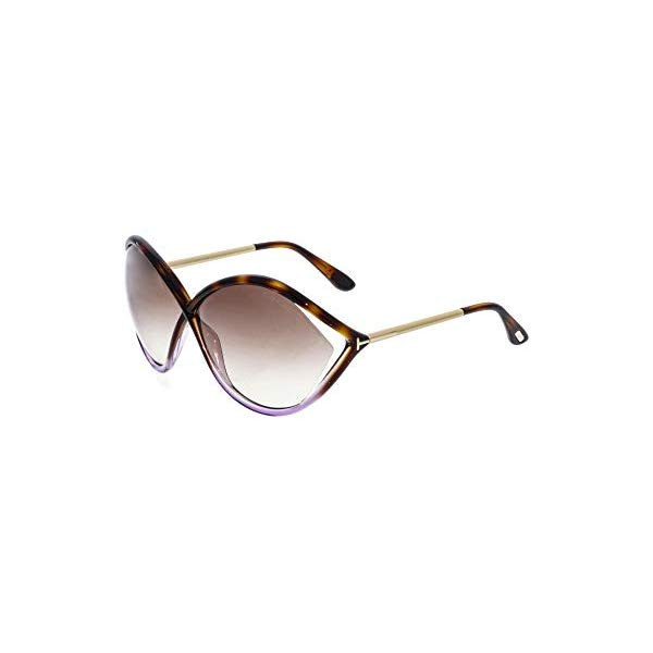 トムフォード サングラス TOM FORD FT0528E Tom Ford Women's Gradient Liora FT0528-55F-70 Brown Oval Sunglasses