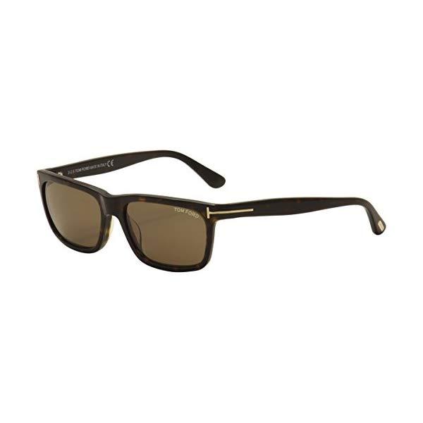 トムフォード サングラス TOM FORD TF337 Hugh Tom Ford FT0337 Hugh Rectangular Sunglasses TF337 Color: Havana/Other / Roviex Lens Color: Brown