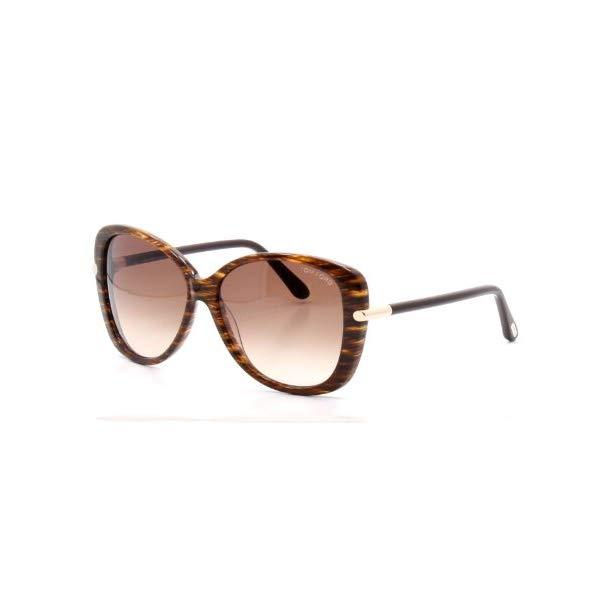 トムフォード サングラス TOM FORD FT0324 Tom Ford Linda FT0324 Sunglasses-50F Brown Striped (Brown Gradient Lens)-59mm