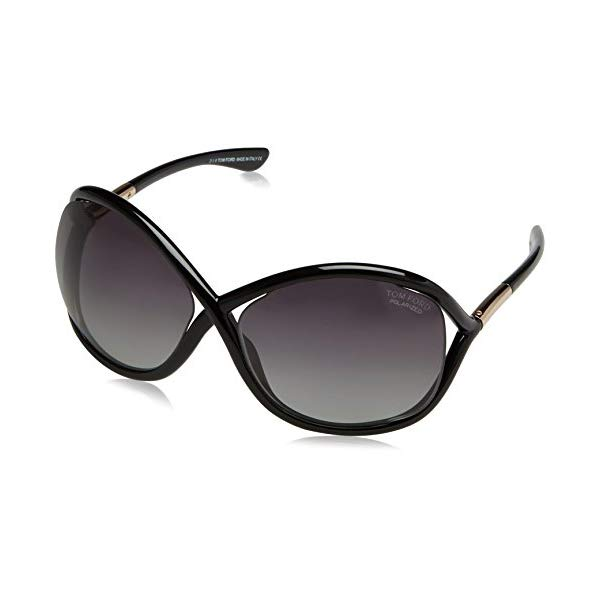 トムフォード サングラス TOM FORD Polarized FT0009 110 01D Tom Ford Sunglasses - Whitney / Frame: Shiny Black Lens: Smoke Polarized