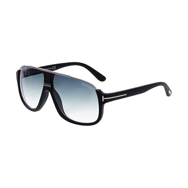 トムフォード サングラス TOM FORD FT0335 Tom Ford Men's Elliot Sunglasses in Matte Black Gradient Blue FT0335 02W 60