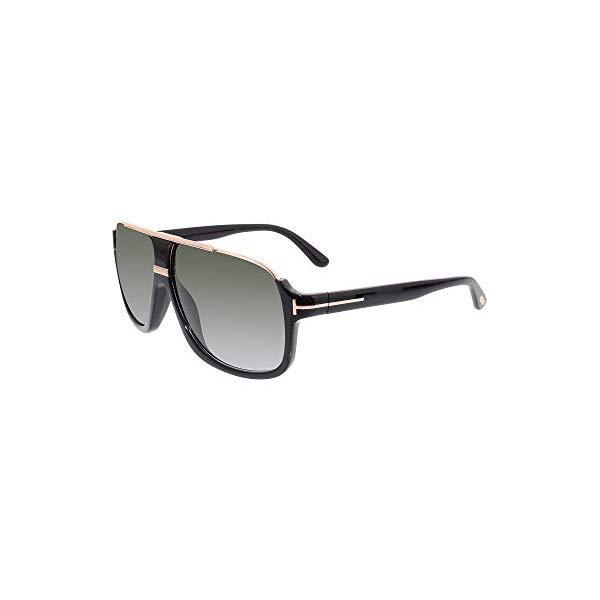 トムフォード サングラス TOM FORD FT0335 Tom Ford Elliot Sunglasses in Shiny Black Gradient Green FT0335S 01P 60