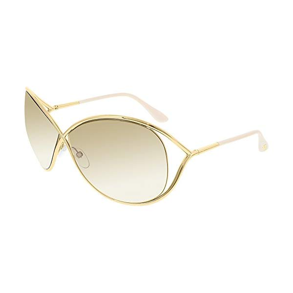 トムフォード サングラス TOM FORD FT0130 MIRANDA Tom Ford Sunglasses - Miranda / Frame: Shiny Rose Gold Lens: Brown Gradient