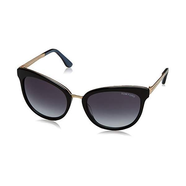トムフォード サングラス TOM FORD FT0461 Tom Ford TF461 05W Black/Blue Emma Cats Eyes Sunglasses Lens Category 3 Size