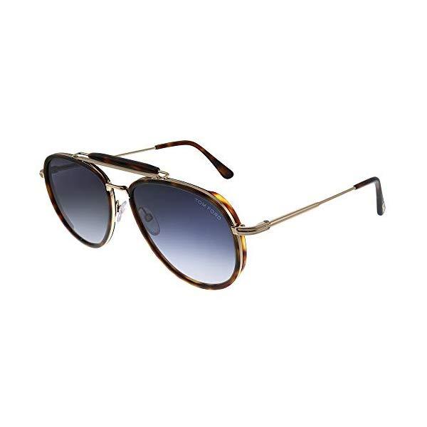 トムフォード サングラス TOM FORD FT0666 54W Tom Ford Sunglasses FT 0666 Tripp 54W red havana/gradient blue