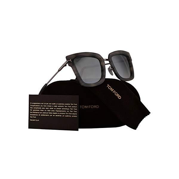 トムフォード サングラス TOM FORD FT0573 Tom Ford FT0573 Lara-02 Sunglasses Havana Grey w/Blue Gradient Lens 55X TF573