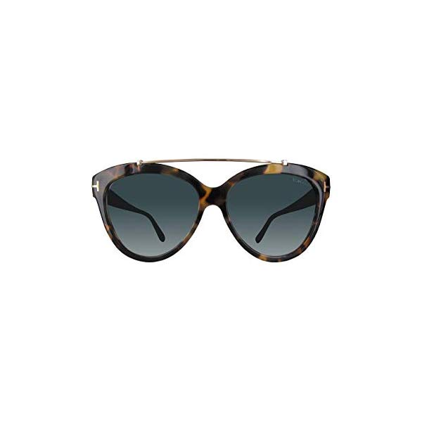 トムフォード サングラス TOM FORD FT0518 Tom Ford FT0518 56W Shiny Havana Livia Cats Eyes Sunglasses Lens Category 2 Siz