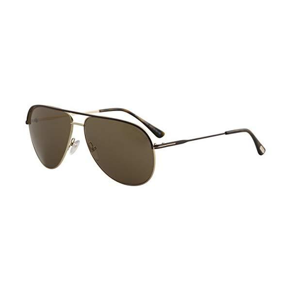 トムフォード サングラス TOM FORD FT0466 Tom Ford 466 50J Gold / Brown Erin Aviator Sunglasses Size 61mm