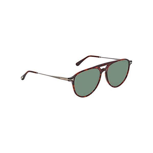 トムフォード サングラス TOM FORD FT0587 Tom Ford Sunglasses FT 0587 Carlo- 02 54N Red Havana / Green