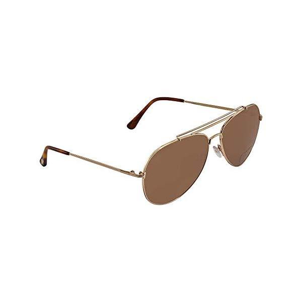 トムフォード サングラス TOM FORD FT0497A Tom Ford FT0497 28H Shiny Rose Gold Indiana Pilot Sunglasses Polarised Lens Cat
