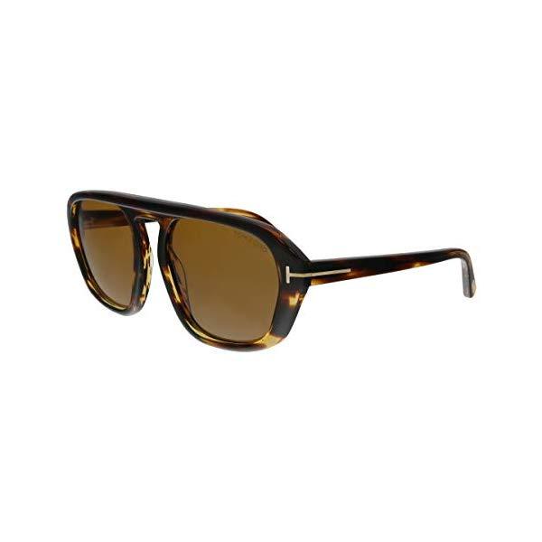 トムフォード サングラス TOM FORD FT0634 Tom Ford FT0634 52E David-02 Havana Square Sunglasses for Mens