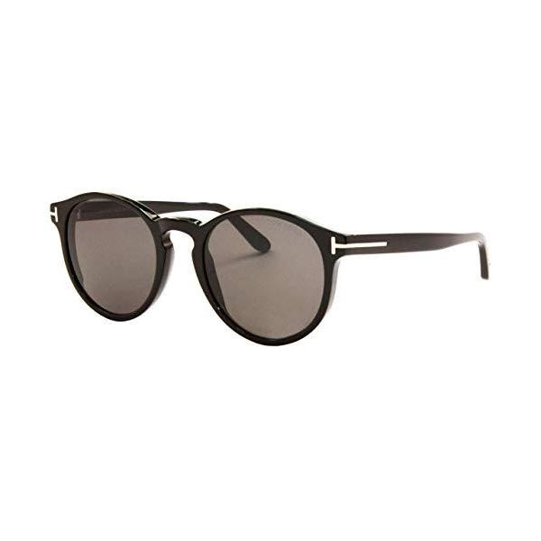 トムフォード サングラス TOM FORD FT0591 Tom Ford IAN-02 FT 0591 Shiny Black/Grey 51/20/145 Unisex Sunglasses