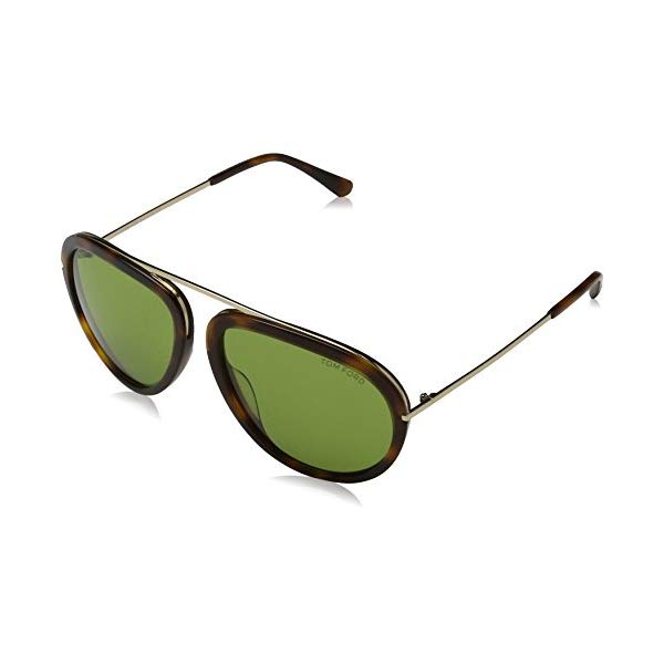 トムフォード サングラス TOM FORD FT0452 Tom Ford Sunglasses - FT0452 Stacy 56N - Havana/Green Lens (57/16/140)