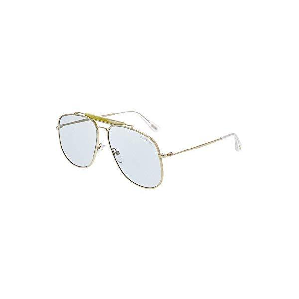 トムフォード サングラス TOM FORD FT0557 Tom Ford Connor TF557 TF/557 28V Shiny Rose Gold Fashion Pilot Sunglasses 58mm