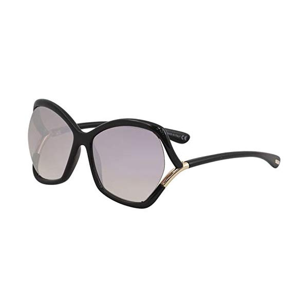 トムフォード サングラス TOM FORD FT0579E Tom Ford Astrid-02 Black / Purple Lens Mirror Sunglasses
