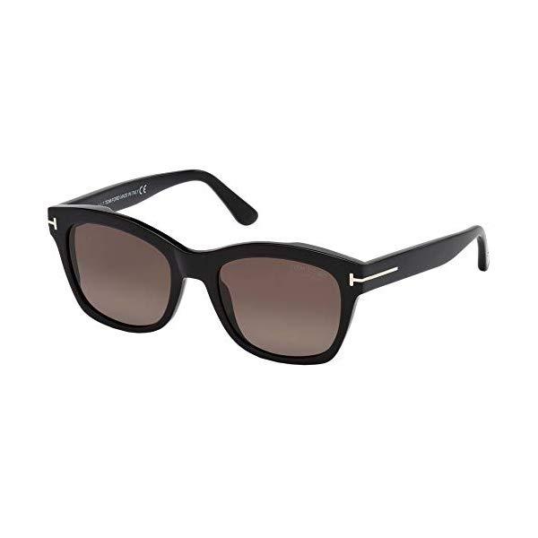 トムフォード サングラス TOM FORD FT0614 Tom Ford LAUREN-02 FT 0614 Shiny Black/Brown 52/19/140 Unisex Sunglasses